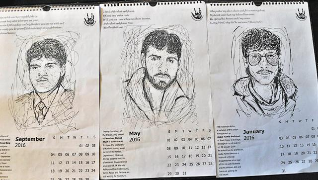 Month by month, Kashmir's missing persons lay claim to 2016